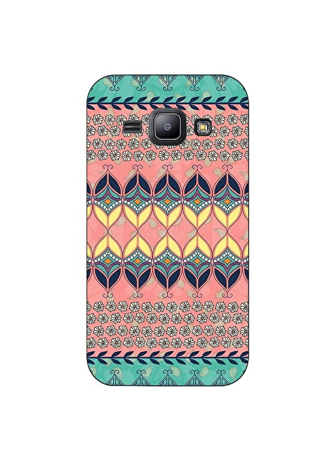 People's Cover Samsung J1 Kabartmalı Telefon Kılıfı Renkli